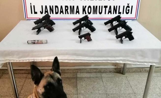 Hatay'da traktörün römorkunda 8 kaçak silah ele geçirildi