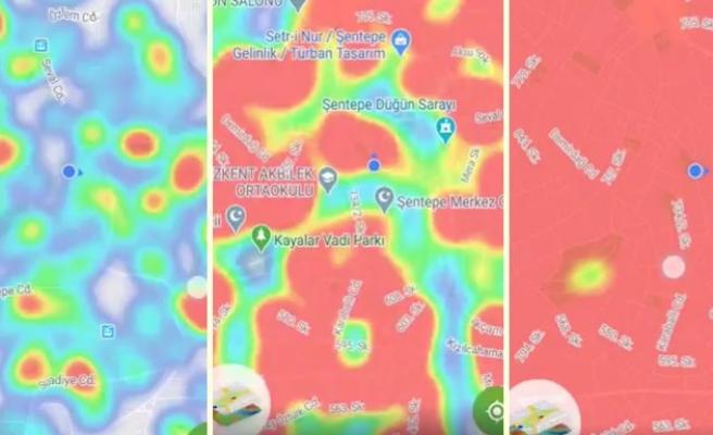 'Hayat Eve Sığar' Uygulaması Üzerinden Alınan Ekran Görüntüleri ile Ankara'nın Son 1 Ay İçindeki Koronavirüs Haritası