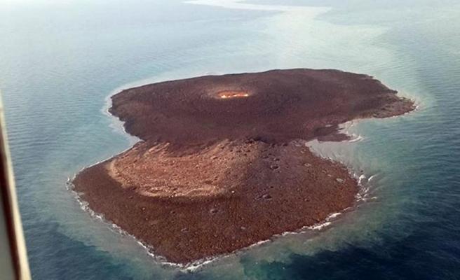 Hazar Denizi'ndeki şiddetli patlamanın gerçekleştiği çamur volkanı görüntülendi