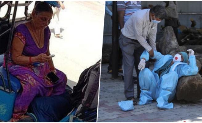 Hindistan'da Korona Kabusu: Ambulans Bulunamayınca Anne Ölen Oğlunu Kendi Taşıdı