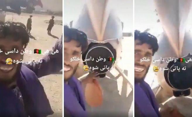 İlk Defa Helikopter Gören Taliban Üyesinin Çektiği TikTok Videosu