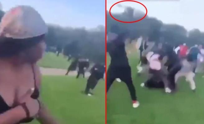 İngiltere'de palalı saldırganlar bir adamı hedef aldı! Olaya tanık olanların çığlıkları dünyaca ünlü parkta yankılandı