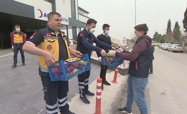 İşadamı Ali Uçak'tan sağlıkçılara destek