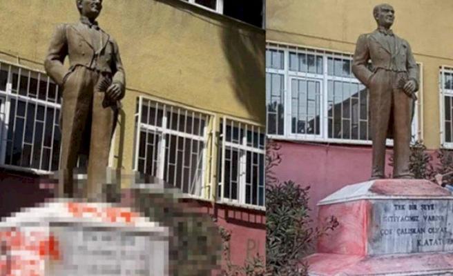 ISID ve PKK İle Bağlantısı Varmış: Tekirdağ'da Atatürk Büstüne Saldıran Şüphelinin 29 Yıla Kadar Hapsi İstendi