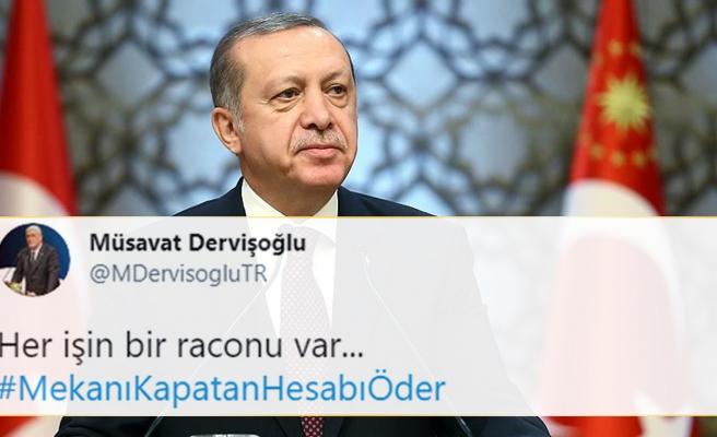 İYİ Parti'den Erdoğan'a 'Tam Kapanma' Mesajı: #MekanıKapatanHesabıÖder