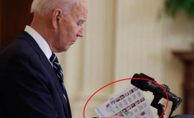 Joe Biden'ın Türkiye ile ilgili açıklamalarda bulunduğu basın toplantısına önündeki liste damga vurdu