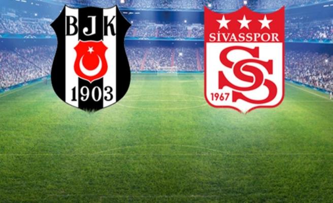 Kara Kartal kötü seriye son vermek için sahada! Beşiktaş-Sivasspor maçı başladı