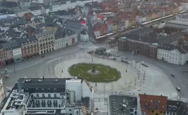 Karantina Altındaki Kopenhag'da Caddeler ve Yollar Bomboş Kaldı