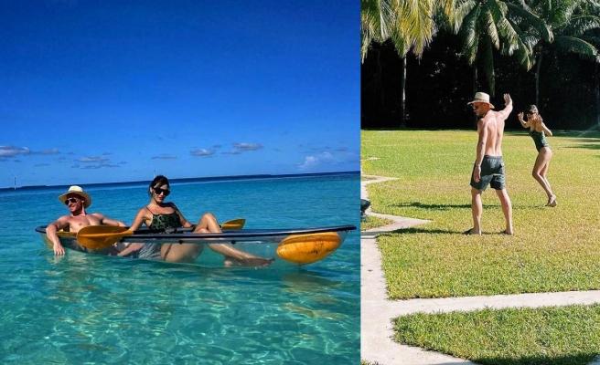 Kerem Bürsin ve Hande Erçel'den Maldivler paylaşımı