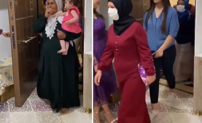 Kız İstemeye Geldikleri Eve Girerken Zılgıt Çeken Damat Tarafının Gündem Olan Görüntüleri
