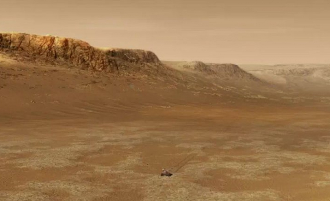 Mars'ta bulunan gizemli taş