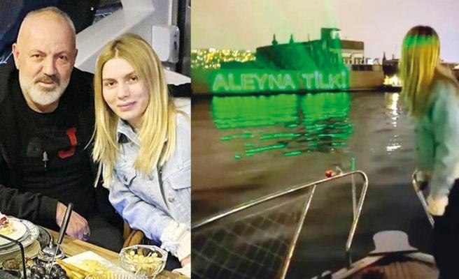 Mehmet Tilki'den kızı Aleyna'ya lazerli kutlama