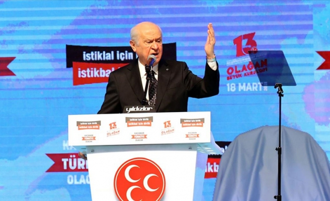 MHP'de Kurultay Günü: 'HDP, Türk Demokrasisinin Etrafını Sarmış Mayın Tarlasıdır'