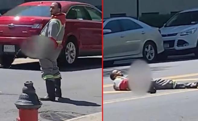 Mide bulandıran olay ABD'yi karıştırdı! Cadde ortasında önce idrarını yaptı, sonra mastürbasyon
