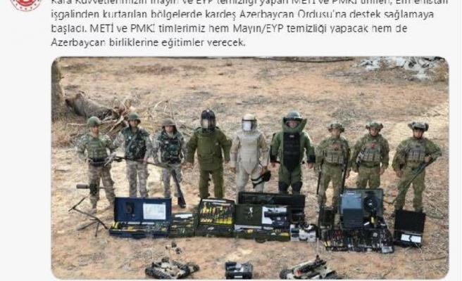 MSB: METİ ve PMKİ timleri, Azerbaycan ordusuna destek sağlamaya başladı