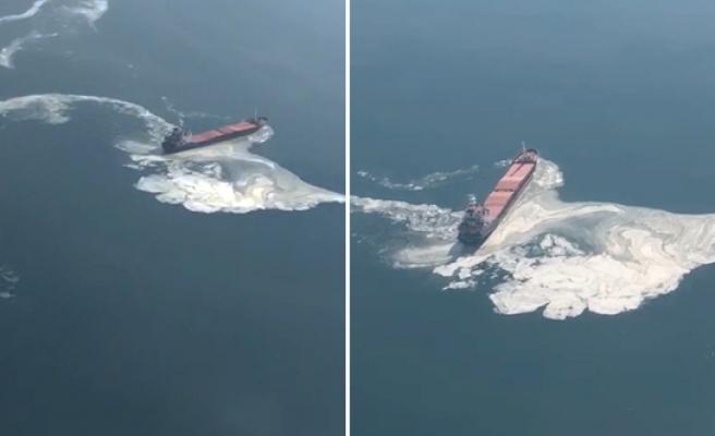 Müsilajın Sebebi Bu mu? 14 Mart'ta Bir Geminin Denize Atık Bıraktığı Görüntüler Yeniden Gündemde