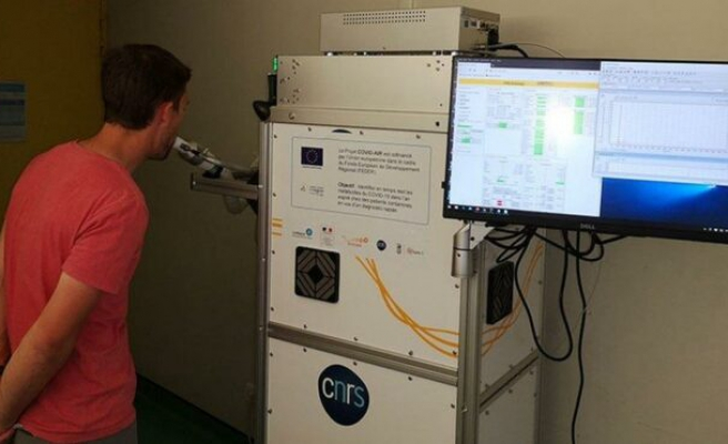 Nefesle corona testi yapan cihaz deneme aşamasında