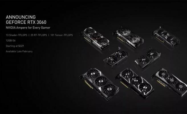Nvidia, RTX 3060 GPU'sunu duyurdu