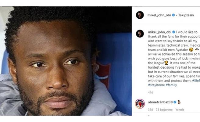 Obi Mikel'den ayrılık açıklaması