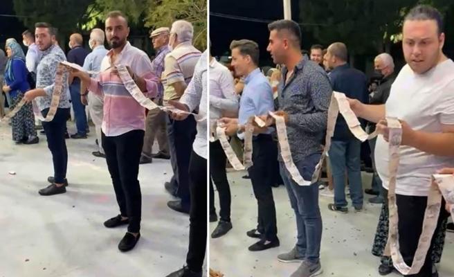 Ortamda Cebinden 5 Liradan Fazla Çıkmayan 'Beşlikçi' Lakaplı Damada, Düğününde Bin Tane 5 Lira Taktılar