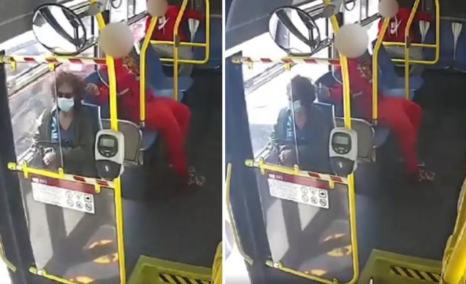Otobüste Yolculuk Eden Kadının Nedensizce Saçını Yakmaya Çalışan Erkek!
