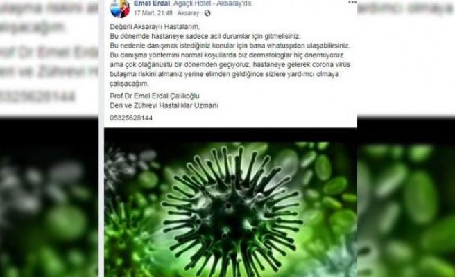 Profesörden corona virüsü tedbiri: Hastaları için danışma hattı kurdu