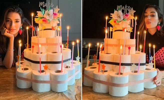 Rachel Araz'a tuvalet kağıtlarından pasta!