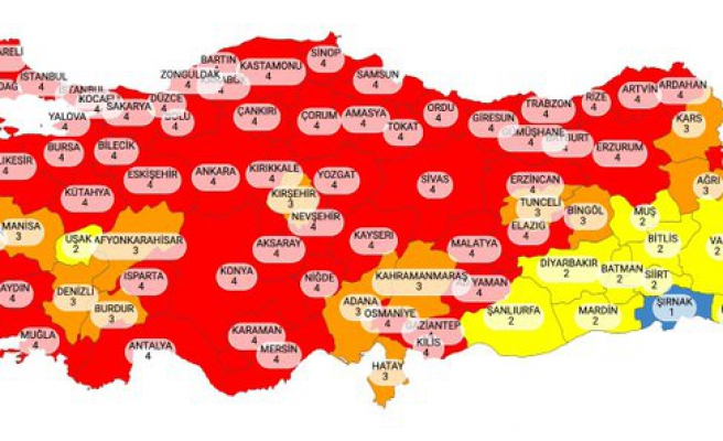 Risk Haritası Güncellendi: Kırmızı Kategorideki Şehir Sayısı 58'e Ulaştı