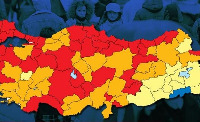 Risk Haritasında 14 İl Daha Kırmızıya Döndü: Tek Mavi Şırnak Kaldı
