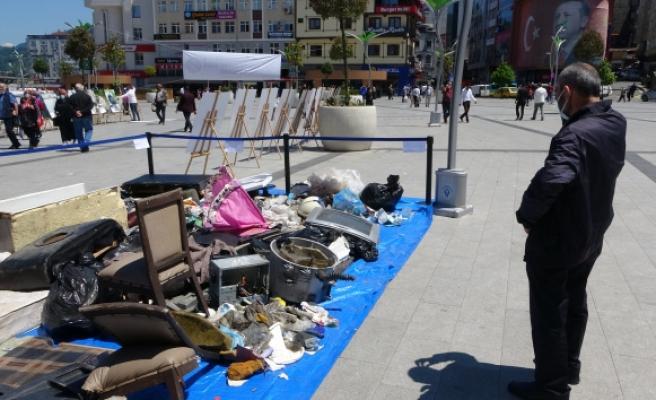 Rize'de dere yataklarından çıkan çöpler herkesi şaşırttı