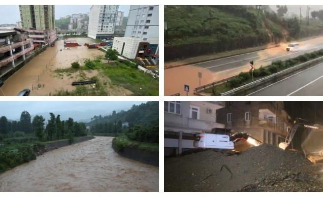 Rize'de Sel Felaketi: 2 Kişi Hayatını Kaybetti, 6 Kişi Kayıp