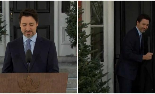 Röportaj Sırasında Üşüyen Justin Trudeau, Eve Gidip Paltosunu Aldı ve Röportajına Devam Etti