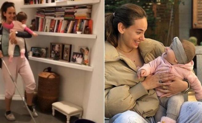 Seda Bakan, kızı Leyla ile 'evde kalın' mesajı verdi