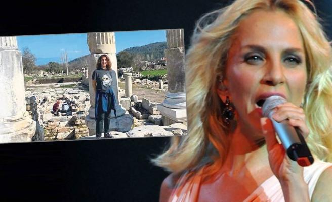 Sertab Erener 'Aşkın ve Gladyatörlerin Kenti'ne hayran kaldı
