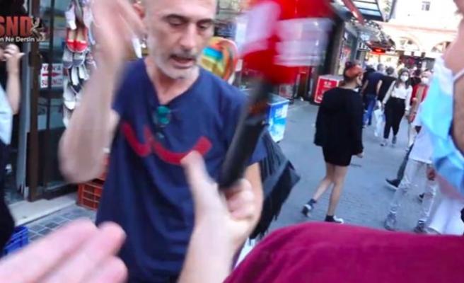 Sokakta Zamları Soran Muhabire Saldırı