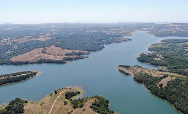 Son 10 yılın en yüksek seviyesine ulaşan Ömerli Barajı havadan görüntülendi