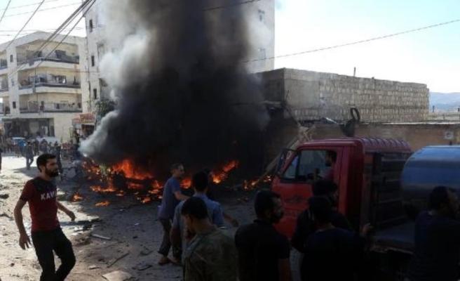 Son dakika haberi... Afrin'de park halindeki araç patlatıldı: 3 ölü, 6 yaralı