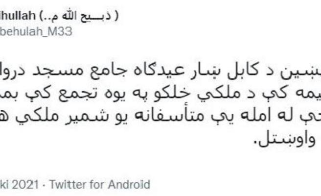 Son dakika haberleri... Afganistan'ın başkenti Kabil'de cami girişinde patlama