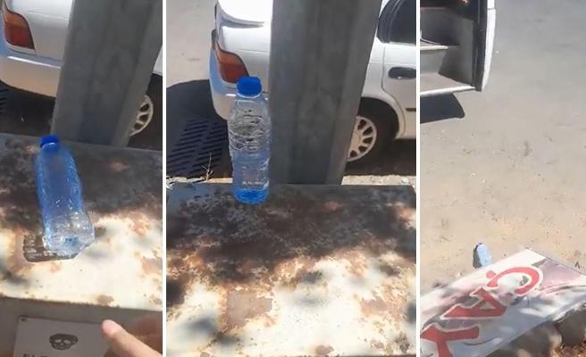 Su Şişesini Dik Durdurmaya Çalışarak Totem Yapan Ufaklığın Sigara Yaktıran Bahtsızlığı