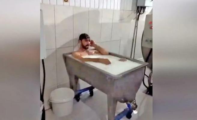 'Süt Banyosu' Görüntülerinin Ardından Tutuklanan İşçi: 'İç Çamaşırlarım Üstümdeydi'