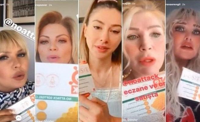 Takviye ürünün reklamını yapan ünlülere soruşturma!