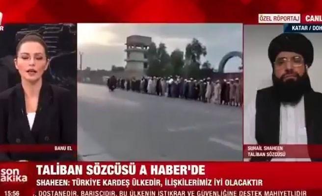 Taliban Sözcüsü A Haber'de: 'Parasal Yardım ya da İşbirliği İçin Türkiye ile Yakın Olmak İsteriz'