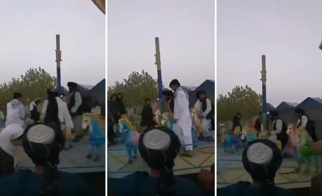 Taliban Üyelerinin Kabil'de Bir Lunaparkta Eğlenirken Kaydedilen Görüntüleri