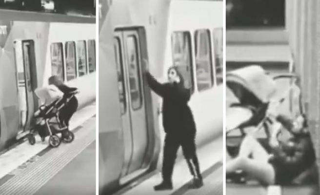 Telefonla Konuşurken Bebeğini Metroda Unutan Anne ve O Bebeğe Sahip Çıkan Melek Kalpli İnsan