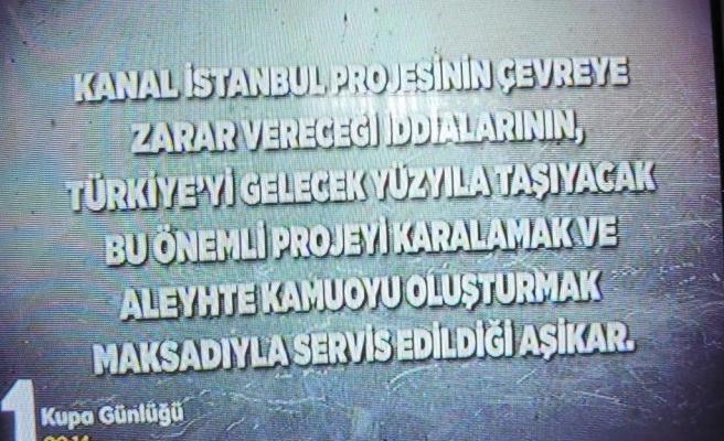 TRT'den Türkiye Maçı Başlarken Kanal İstanbul Propagandası