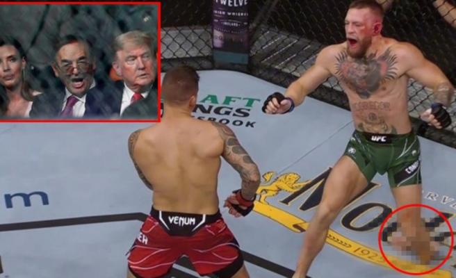 Trump'ın da izlediği dövüşte Conor McGregor'un ayağı kırıldı, maçı Dustin Pourier kazandı