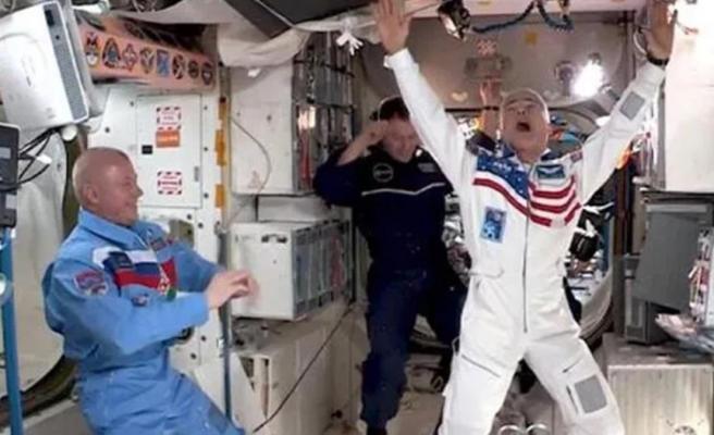 Uluslararası Uzay İstasyonu'nda ilk kez 'uzay oyunları' düzenlendi! Yarışmayı kazanan Soyuz Takımı oldu