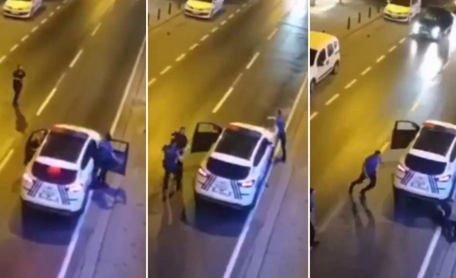 Ümraniye'de Polise Bıçakla Saldıran Zanlının Vurulduğu O Anlar