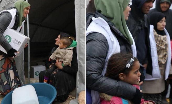 Ünlü yıldız İdlib'te umut oldu!