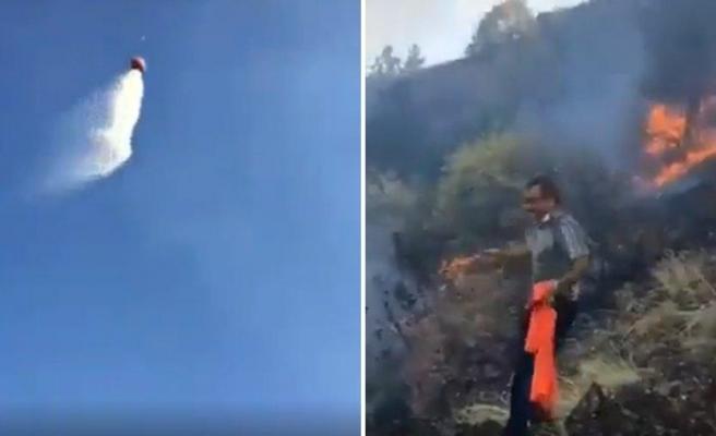 Yangın Söndürme Helikopterine Komut Veren Vatandaşların Islanınca Ortaya Çıkan Muhteşem Görüntüleri